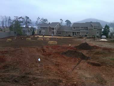 Clay Irrigation preps a new site for complete landscaping